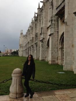 Outside the monastery