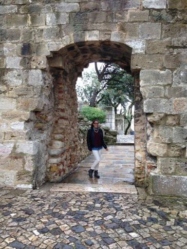 Me in an arch at the ruins of the castle