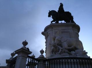 King Jose I in the main square